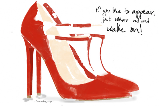 illustration shoes louboutin