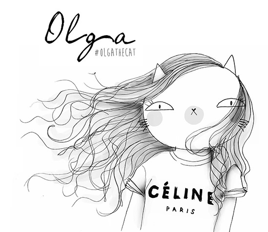 olga the cat fashion illustration