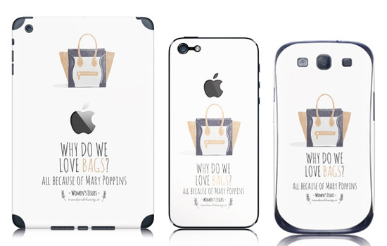Trend and The City skin bags cover smartphone