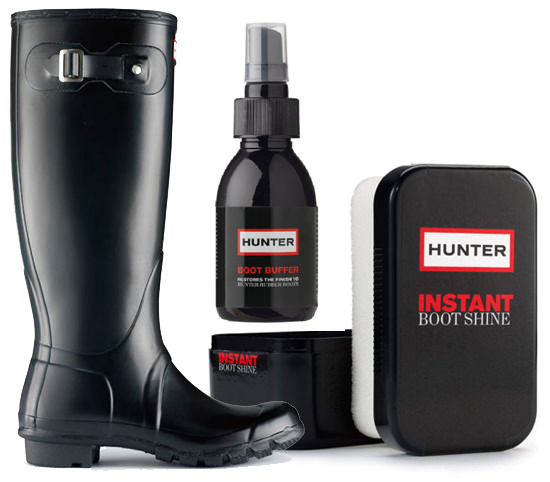pulire hunter boots