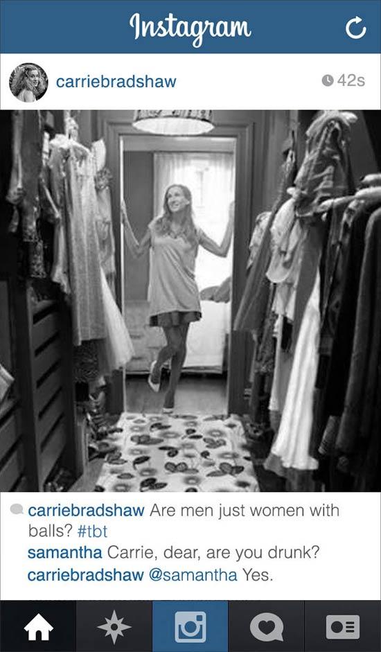 carrie-bradshaw-on-instagram