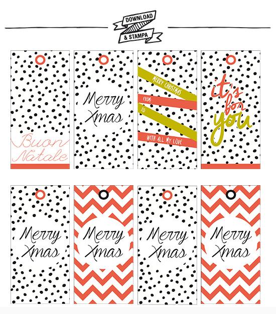 Download stampa le etichette per i regali di natale e i for Pc in regalo gratis