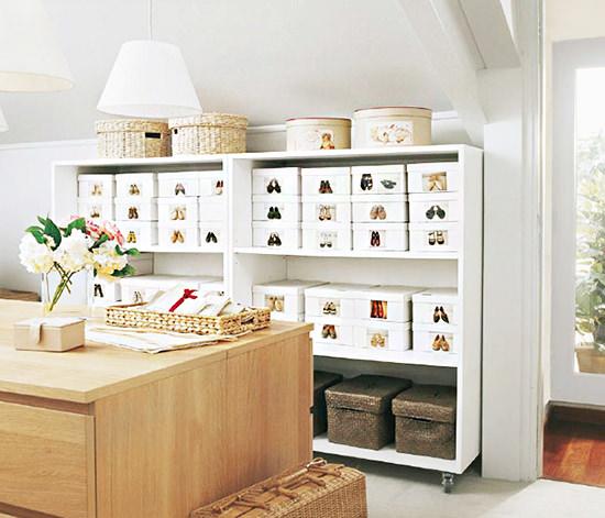 Shoes storage 15 idee ingegnose e creative per tenere in - Scatole scarpe ikea ...