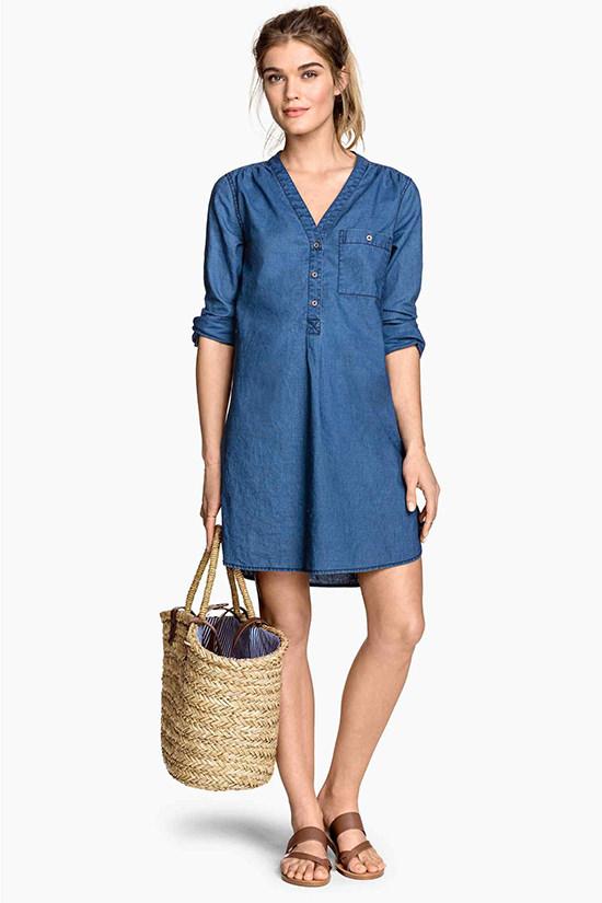 h&m-denim-shirt-dress