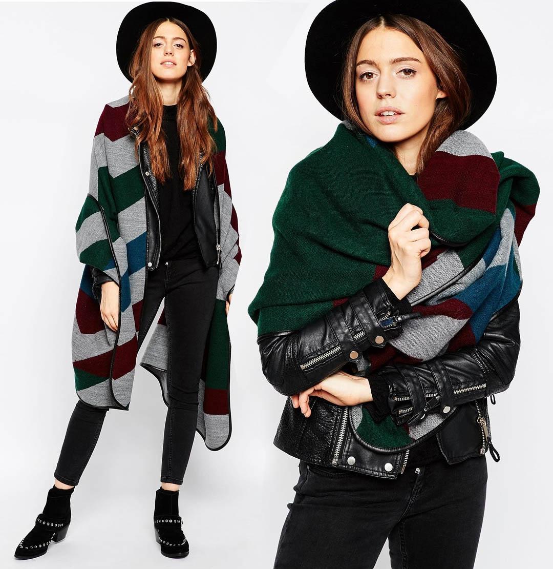 tendenza blanket scarf sciarpa coperta