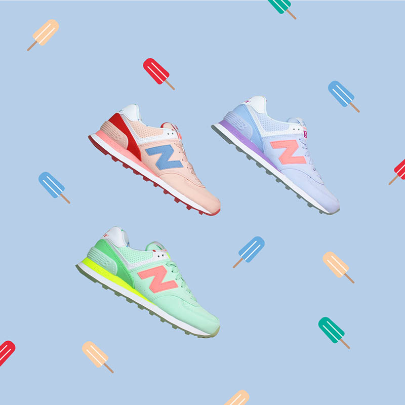 sports shoes c9d31 aacb7 Le New Balance 574 State Fair Pack: color pastello e stampa ...