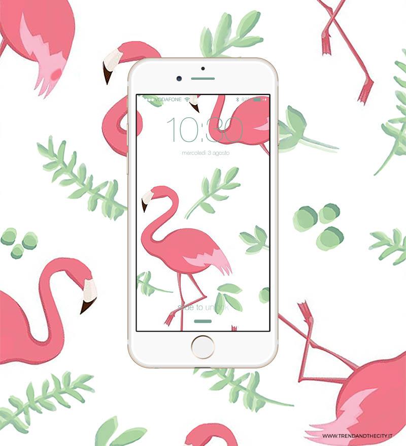 sfondo-smartphone-fenicotteri