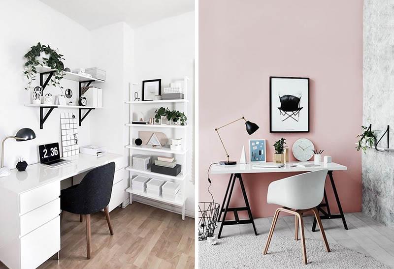 Workspace ispirazioni per arredare la zona studio lavoro - Arredare ufficio in casa ...