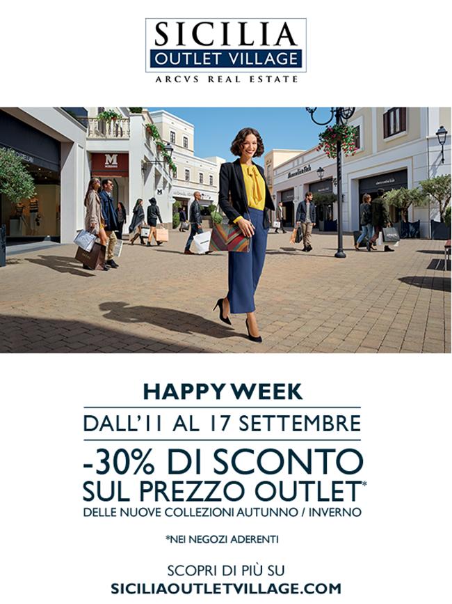 HAPPY WEEK sicilia outlet village