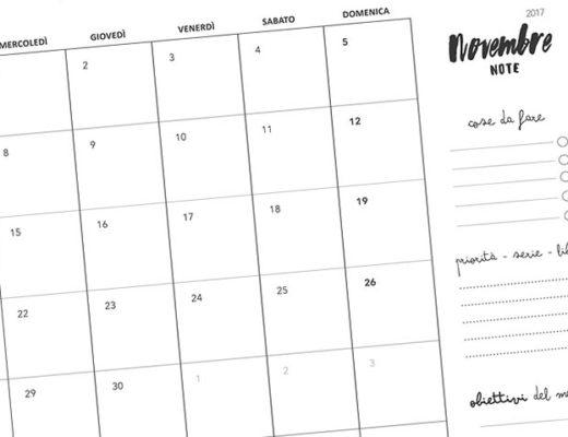 calendario gratis novembre 2017