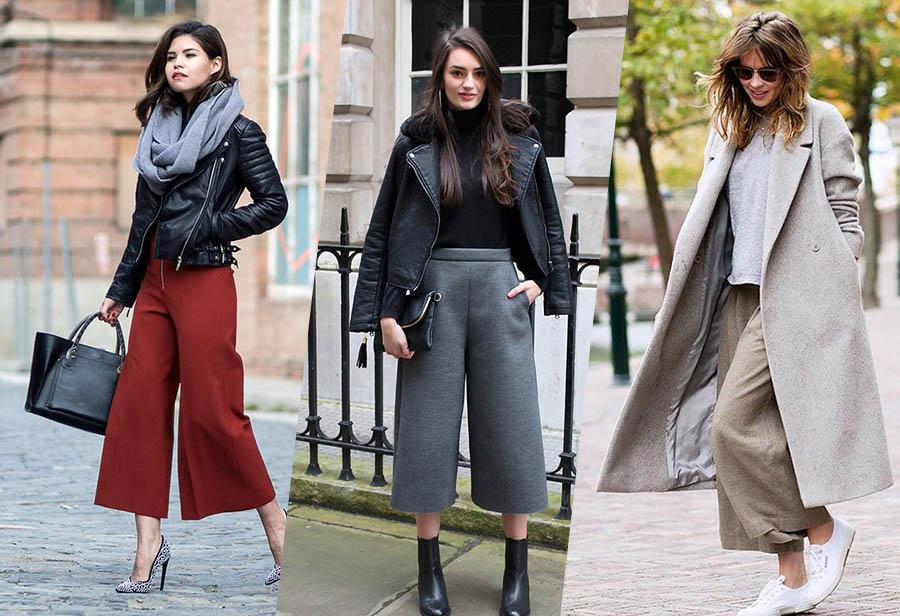 come indossare pantaloni culottes in inverno